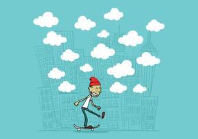Typ auf einem Skateboard vektor