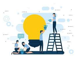 Teamwork und Geschäftsleute Vektor-Design vektor