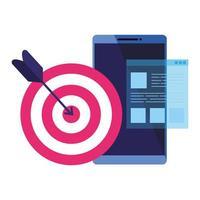 isolerade mål och smartphone vektor design