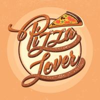 Pizza Liebhaber Typografie vektor