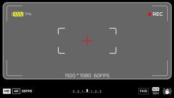 moderner Kamera-Fokussierbildschirm mit Einstellungen vektor