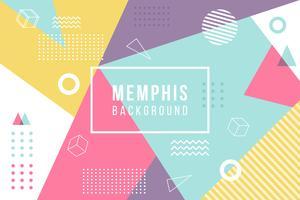 Memphis bakgrund vektor