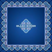 Türkischer islamischer Grenzvektor vektor
