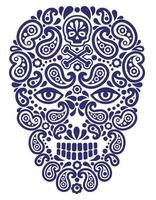 Schädel mit Paisley-Design vektor