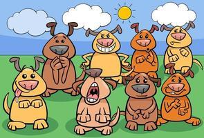 lustige Hunde Cartoon Charaktere Gruppe vektor