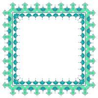 Islamische Grenze mit weißem Hintergrund-Vektor vektor