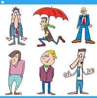 män karaktärer ange tecknad illustration vektor
