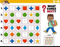 fylla mönstret pedagogiska uppgift för barn vektor