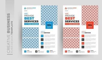 multifunktionell företagsflygblad och broschyromslagssats vektor