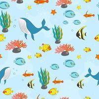 nahtloses Muster mit Unterwasserkonzept