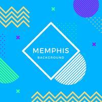 Flacher Memphis-Vektor-Hintergrund