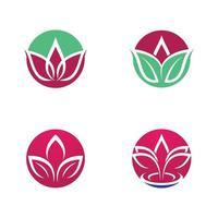 Beauty Lotus Logo Set vektor