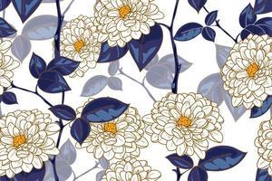 nahtloses Muster des Blumenkonzepts mit Weinlesestil vektor