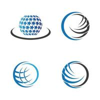 Globus-Logo-Bilder vektor