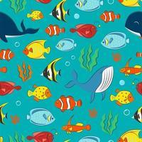 nahtloses Muster mit Unterwasserkonzept vektor