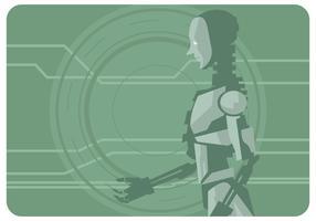 Ai Roboter Vektor