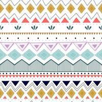 sömlöst randigt mönster. etniska och stammotiv. vintage tryck, grunge konsistens. aztec, afrikansk, asiatisk, indisk och maya stil. bohemiska geometriska ränder handritad vektorillustration. vektor