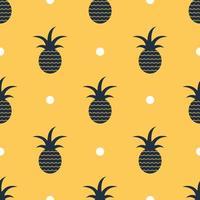 sömlös bakgrund för ananasmönster, vektor. vektor