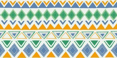 sömlöst randigt mönster. etniska och stammotiv. vintage tryck, grunge konsistens. aztec, afrikansk, asiatisk, indisk och maya stil. bohemiska geometriska ränder handritad vektorillustration.