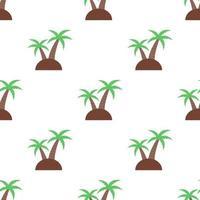 nahtloser Kokosnussbaummusterhintergrund, Vektor und Illustration.