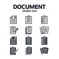 uppsättning enkla dokumentikoner