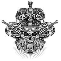 Gothic Grunge Schädel vektor