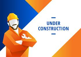 Webbplats Under Construction Vector