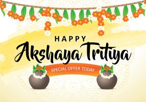 Glücklicher Akshaya Tritiya Hintergrund vektor