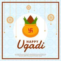 Glücklicher Ugadi-vektorhintergrund vektor