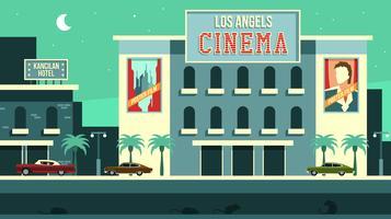 Weinlese-Los Angeles-Kino-freier Vektor