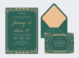Art-Deco-Hochzeitskarte vektor