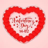 glad Alla hjärtans dag gratulationskort design vektor