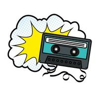 Kassette mit Cloud-Pop-Art-Stilikone