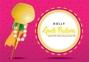 gudi padwa festival illustration
