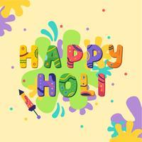 Fröhliches Holi Color Festival vektor