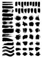 klotter och blotting vektorillustrationer set