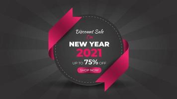 nyår 2021 mode försäljning färgglada webb banner mall vektor
