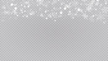 weiße Schneeflocken auf Hintergrund. vektor