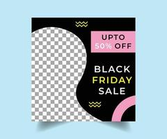 schwarzer Freitag Social Media Post Design
