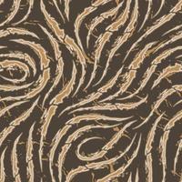Vektor nahtloses Muster der glatten Pinselstriche mit zerrissenen Kanten der beige Farbe auf einem braunen Hintergrund. Wellen- oder Fließtextur. Tapete oder Stoff drucken.