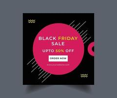 svart fredag sociala medier postdesign
