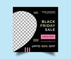 schwarzer Freitag Social Media Verkauf Post Design