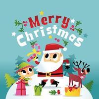 super süße frohe Weihnachten Winter Santa Freunde