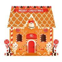 super süßes Weihnachts-Lebkuchenhaus