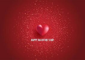 Alla hjärtans dag bakgrund med hjärta och konfetti