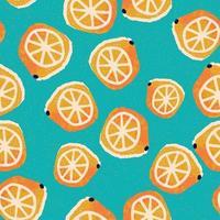 handritade citroner sömlösa mönster
