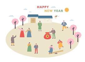 Neujahrsgrußkarte.