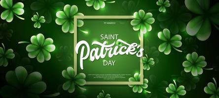 saint patrick's day illustration med klöverblad prydnad