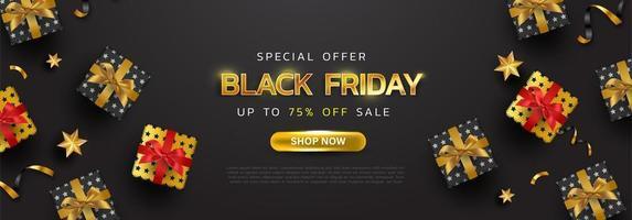 svart fredag bakgrund eller specialerbjudande reklam försäljning banner för affärer och reklam affisch