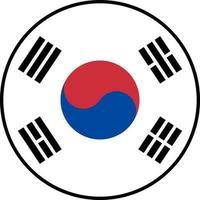 Flagge von Südkorea Symbol Vektor isolieren